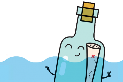 אנימציה מכתב בבקבוק