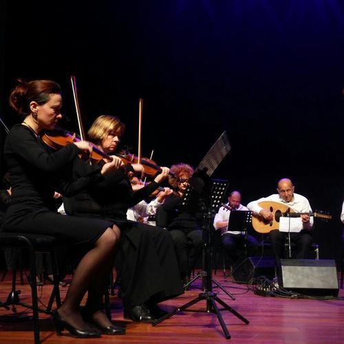 התזמורת. מתוך המופע: תעלומת השוק הירושלמי