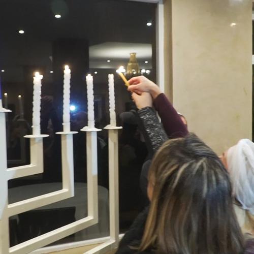 הדלקת נרות חנוכה בקזבלנקה של התזמורת האנדלוסית
